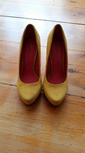 High Heels gelb pink Gr 36