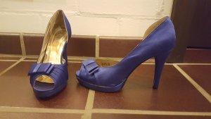High Heels glänzend Blau