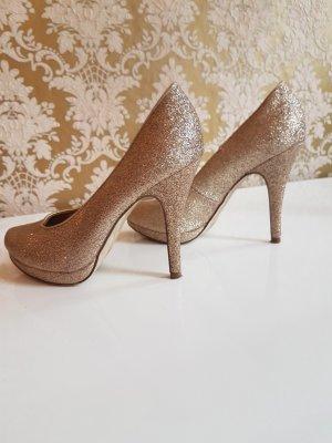 High Heels Glitzer Gold Gr 36