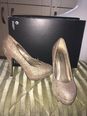 High heels Glitzer Gold gr. 38
