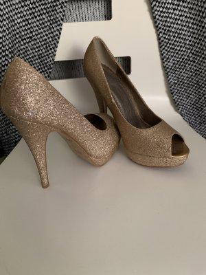 High Heels Gold/Glitzer