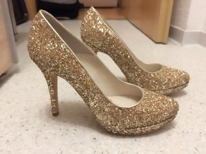 * HIGH HEELS GOLD GLITZER BUFFALO *