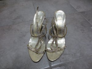 High Heels, gold, Strass, Gr. 37, Pitarello