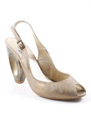 High Heels goldfarben Metallic-Optik