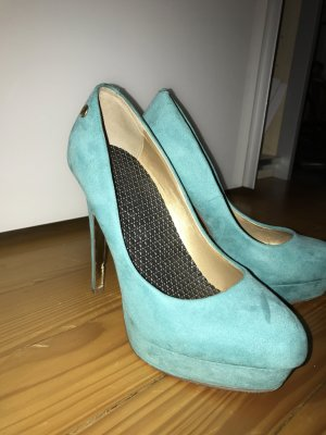 Blink High Heels turquoise-cadet blue