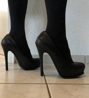 Plateauzool pumps zwart