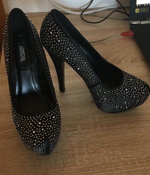 High Heels black-silver-colored