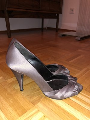 High Heels, Gr. 40, Zara, Satin, grau