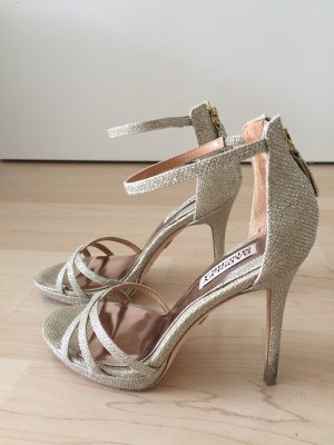 Badgley Mischka Tacones altos color oro