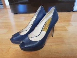 High Heels hohe Schuhe Plateau Absatz in blau Gr. 8 von Michael Kors