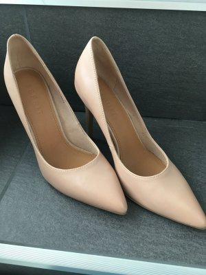 High heels Hohe Schuhe Pumps Sandalen 38 nude Rose rosa Esprit Party Hochzeit