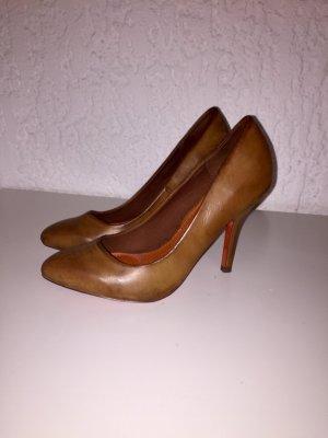 Zara Tacones altos coñac-marrón
