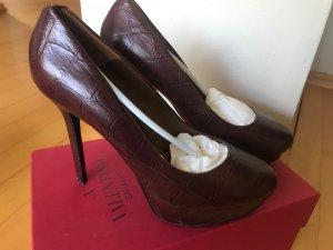 High Heels in dunkelbraun