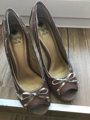 Replay Peep Toe Pumps brons