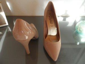High Heels in nude, Lackleder Gr.39/40
