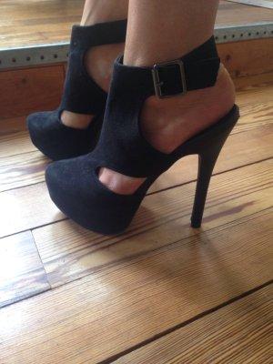 High Heels in schwarz mit Cut Outs in 38