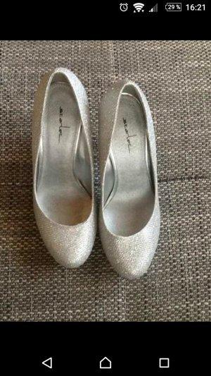 High Heels in Silber Größe 37