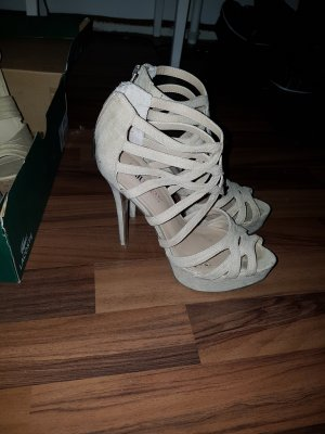 high heels justfab beige