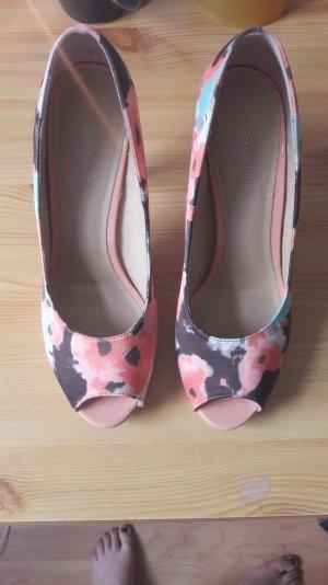 high heels Korall nude peeptoe, plateau