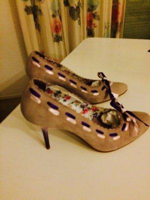 High heels lila violette Prinzessin Italien Neu Schleifen 38