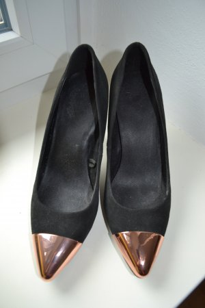 High heels Mango Goldene Spitze