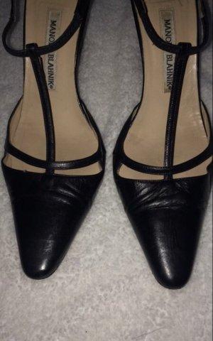 Manolo Blahnik Zapatos de tacón con barra en T multicolor