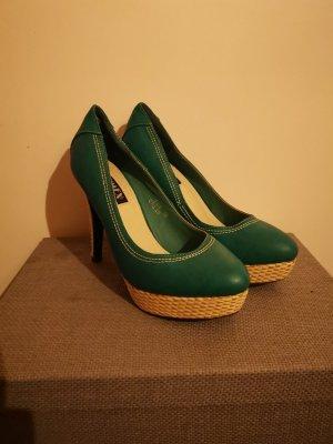 High Heels mit Bastsohle