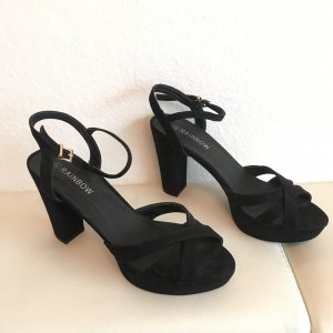 Rainbow Platform High-Heeled Sandal black imitation leather