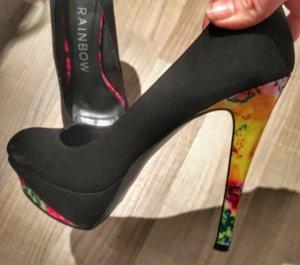 High Heels mit buntem Absatz