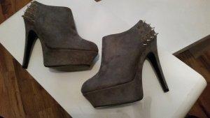 Belle Women Botas de tobillo color oro-gris