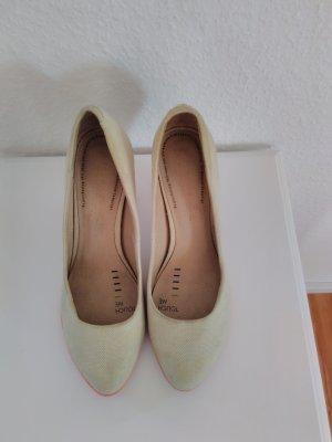 High Heels mit Holzabsatz und Neonsohle von Terra Plana