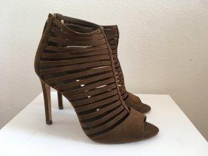 Zara High Heel Sandal dark brown