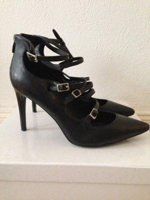 High heels mit Riemchen, echtes Leder, Gr. 41