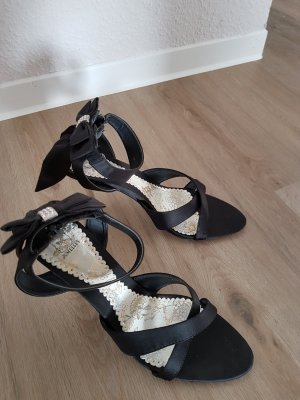 Just Fab High Heels black-silver-colored