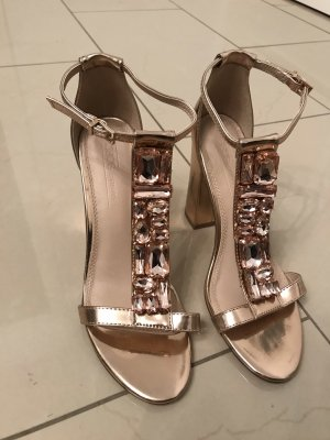 Asos Strapped High-Heeled Sandals rose-gold-coloured