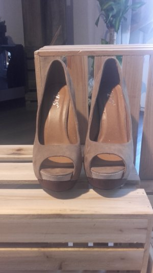high heels nagelneu braun/beige
