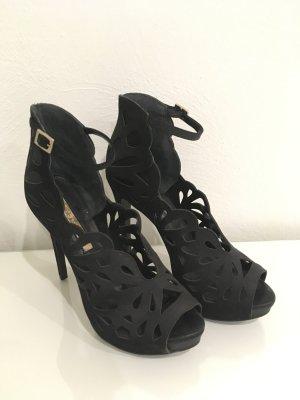 High heels neu schwarz Buffalo London Pumps hoher Schuh Party fashion 38
