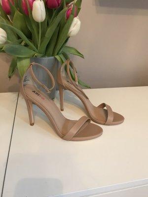 High heels nude Gr 38,5 ungetragen