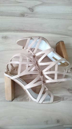 High Heels Nude Wooden Heel