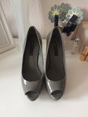 High Heels Peeptoes Grau Mango Gr. 37