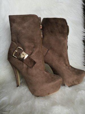 High Heels / Plateau / Stiefelette Gr.39