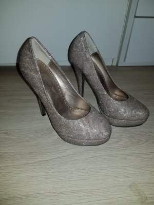 Belle Women Tacones altos color bronce-color oro