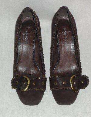 High Heels Pumps Echtleder Wildleder Braun M.SHOES 39 Office Schuhe