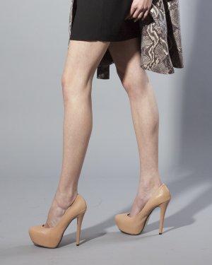 High Heels, Pumps Gr 39 Topshop NP 100€ nude, haufarben, Blogger, Echtes Leder