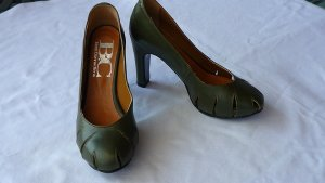 Best Connections High Heels dark green leather