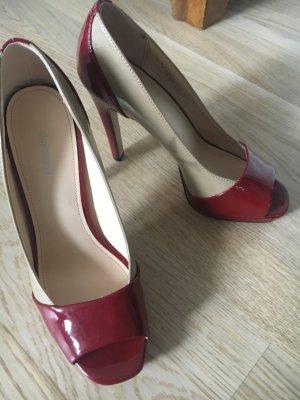 High Heels rot-beige Gr. 38