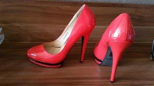 High Heels rot-schwarz Jumex