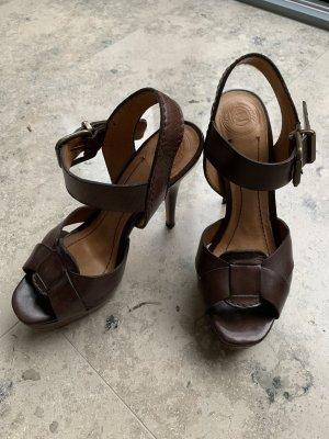 Zara Sandalo con plateau marrone scuro-marrone-nero