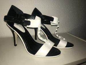 High heels Sandalen schwarz weiss