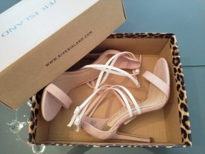 River Island High Heel Sandal pink-white